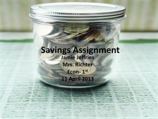 Savings Assignment