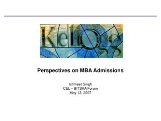 Perspectives on MBA Admissions