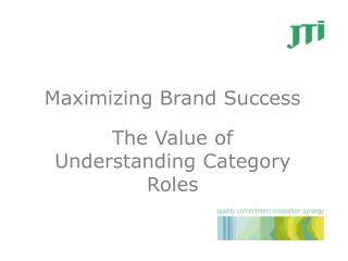 Maximizing Brand Success The Value of Understanding Category Roles