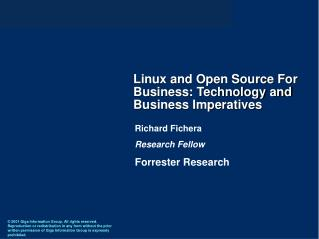 Linux and Open Source For Business: Technology and Business Imperatives