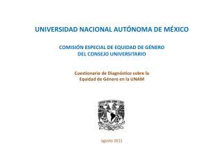 COMISIÓN ESPECIAL DE EQUIDAD DE GÉNERO  DEL CONSEJO UNIVERSITARIO