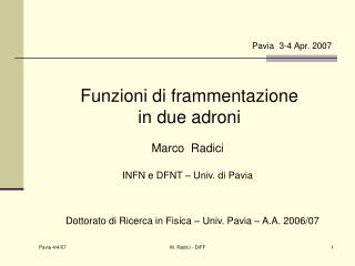 Pavia  3-4 Apr. 2007