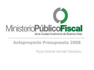 Anteproyecto Presupuesto 2008