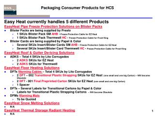 Packaging Consumer Products for HCS
