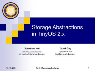 Storage Abstractions in TinyOS 2.x