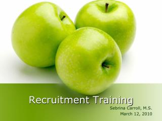 Recruitment Training