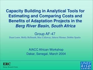 AIACC African Workshop Dakar, Senegal, March 2004