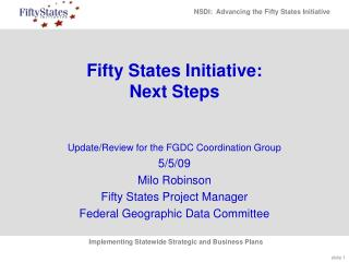 Fifty States Initiative: Next Steps