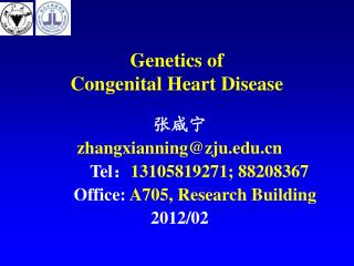 Genetics of  Congenital Heart Disease