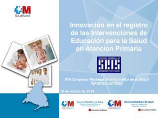 Innovación en el registro de las Intervenciones de Educación para la Salud en Atención Primaria