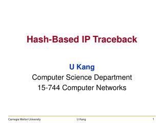 Hash-Based IP Traceback