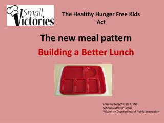 The new meal pattern