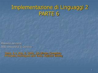 Implementazione di Linguaggi 2 PARTE 6