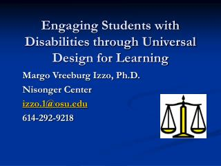 Engaging Students with Disabilities through Universal Design for Learning