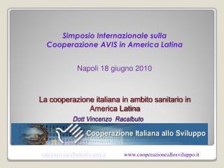 La cooperazione italiana in ambito sanitario in America Latina