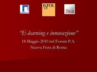 """""""E-learning e innovazione"""""""
