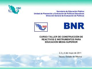 2,3 y 4 de mayo de 2011 Toluca, Estado de México