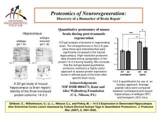 Proteomics of Neuroregeneration: Discovery of a Biomarker of Brain Repair
