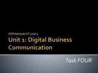 Unit 1: Digital Business Communication