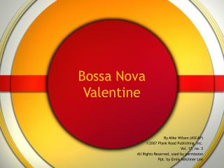 Bossa Nova Valentine