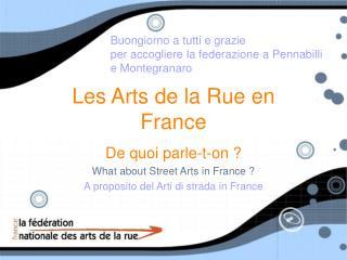 Les Arts de la Rue en France