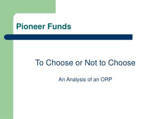 Pioneer Funds