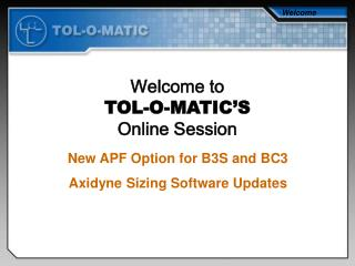 New APF Option for B3S and BC3 Axidyne Sizing Software Updates