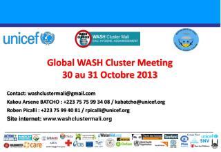 Global WASH Cluster Meeting  30 au 31 Octobre 2013