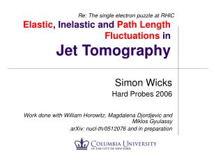 Elastic , Inelastic and  Path Length Fluctuations  in Jet Tomography