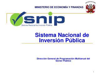 Dirección General de Programación Multianual del Sector Público