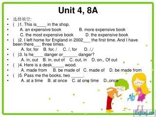 Unit 4, 8A