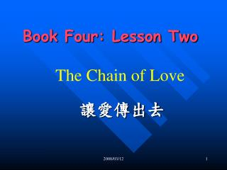 Book Four: Lesson Two