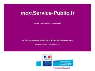 Les promesses de  mon .Service-Public.fr