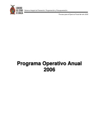 Programa Operativo Anual 2006