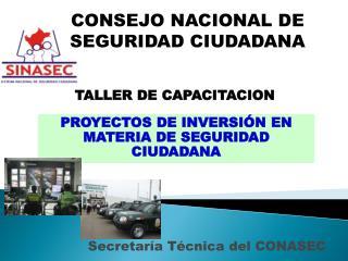 Secretaría Técnica del CONASEC