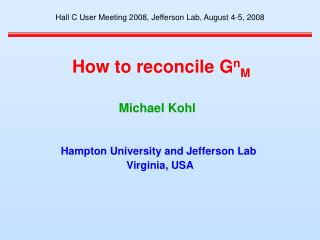 How to reconcile G n M