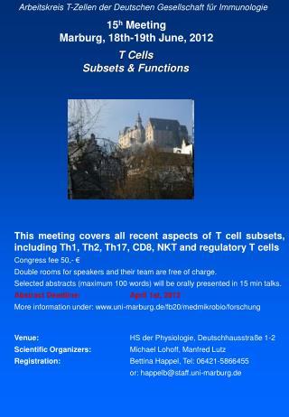 Arbeitskreis T-Zellen der Deutschen Gesellschaft für Immunologie