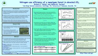 Nitrogen-use efficiency of a sweetgum forest in elevated CO2 Richard J. Norby1 and Colleen M. Iversen2 1Oak Ridge Nation