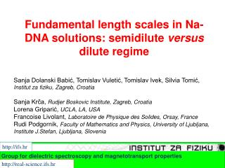 Fundamental length scales in Na-DNA solutions: semidilute  versus  dilute regime