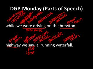 DGP-Monday (Parts of Speech)