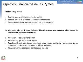 Aspectos Financieros de las Pymes