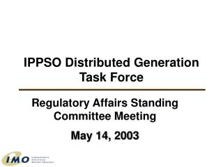 IPPSO Distributed Generation Task Force