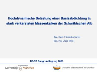 Dipl.-Geol. Friederike Meyer Dipl.-Ing. Claas Meier