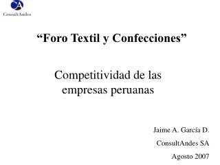 """""""Foro Textil y Confecciones"""""""