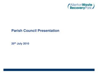 Parish Council Presentation