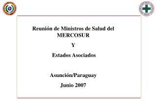 Reunión de Ministros de Salud del MERCOSUR Y  Estados Asociados Asunción/Paraguay Junio 2007