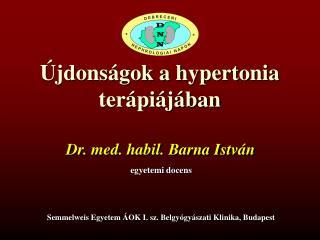 �jdons�gok a hypertonia ter�pi�j�ban