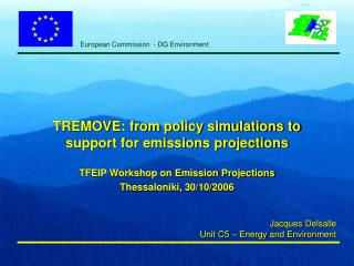 TREMOVE: from policy simulations to support for emissions projections