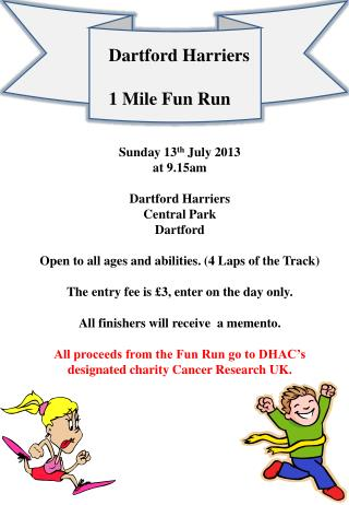 Dartford Harriers 1 Mile Fun Run
