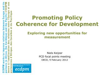 Niels Keijzer PCD focal points meeting OECD, 9 February 2012